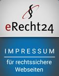 eRecht24-Siegel für das Impressum